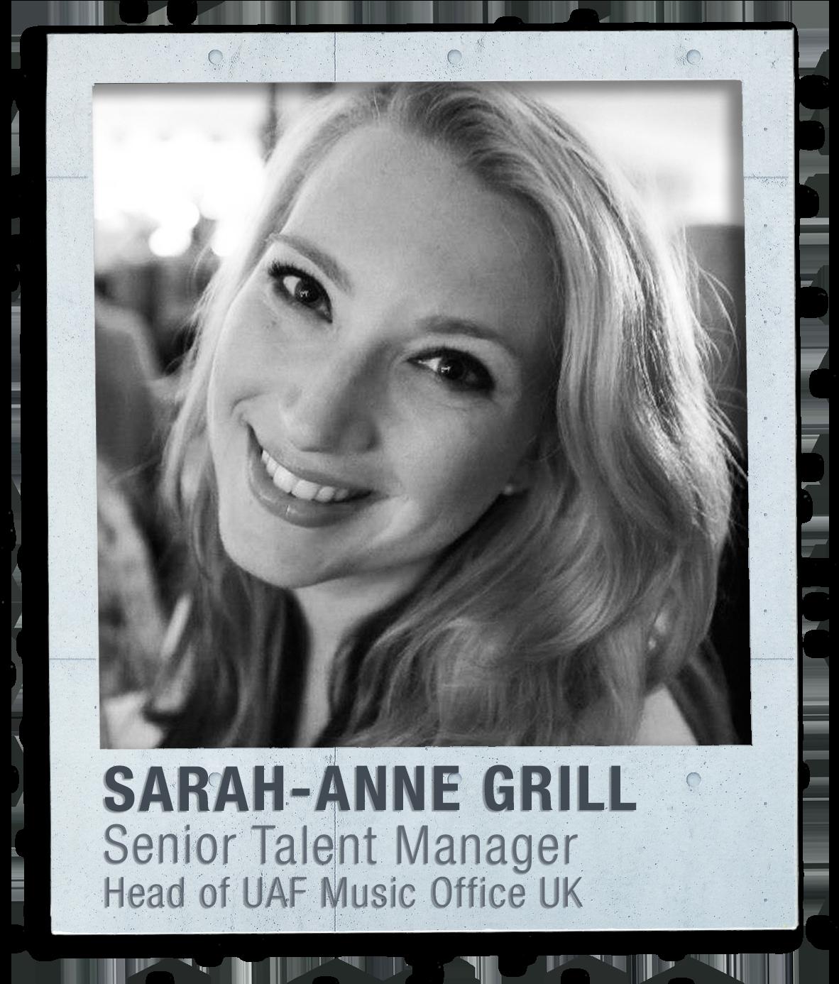 SARAH-ANNE GRILLSenior Talent Manager | UAF